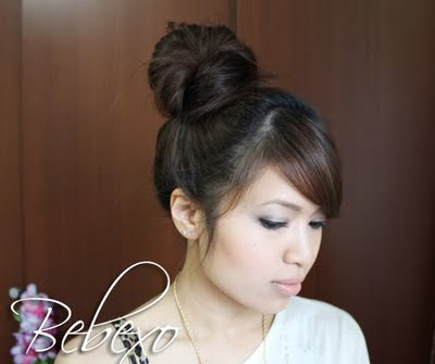 Korean High Bun Updo Hairstyle